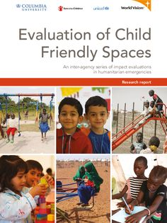 Child friendly spaces (CFS) have become a widely used approach to protect and provide psychosocial support to children in emergencies. However, little evidence documents their outcomes and impacts. Recognizing this, the Child Protection Working Group (CPWG) of the Global Protection Cluster and the Inter-Agency Standing Committee (IASC) Reference Group on Mental Health and Psychosocial Support in Emergency Settings have identified research in this area as a high priority.