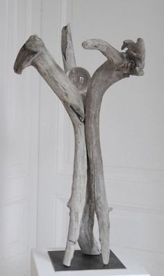 Driftwood statue for in the garden.