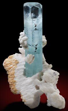 Beryl v. Aquamarine, Tantalite and Albite. Nyet Bruk, Braldu Valley, Baltistan, Gilgit- Baltistan, Pakistan