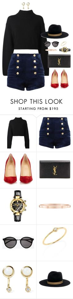 """What are the chances ?"" by xoxomuty on Polyvore featuring DKNY, Pierre Balmain, Christian Louboutin, Yves Saint Laurent, Versace, Harry Winston, Sydney Evan, Pamela Love, Janessa Leone and polyvoreOOTD"