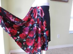 SATIN Tail Argentinian Tango Bell Skirt Size by COCOsDANCEWEAR