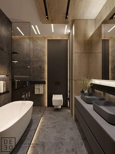 Design, motivation, and DIY ideas for remodeling your master bathroom on a tight budget. Awesome DIY home projects, determination for your house, and cheap remodeling a few ideas for your master bathroom. Bad Inspiration, Bathroom Inspiration, Bathroom Design Luxury, Home Interior Design, Modern Interior, Interior Colors, Interior Designing, Bath Design, Luxury Interior
