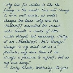charming life pattern: wuthering heights - emily bronte - quote - my love...