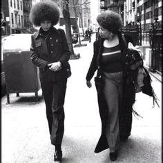 Happy Birthday To The Ever Inspiring Angela Davis! Angela Davis and Toni Morrison taking a walk. March 28, 1974 #Padgram