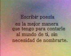 ¿Cómo contarle al mundo de ti sin nombrarte? #Poesía #Buenasnoches
