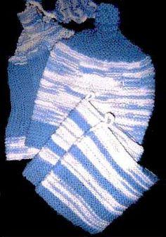Hanging Kitchen Towel Knitting Pattern