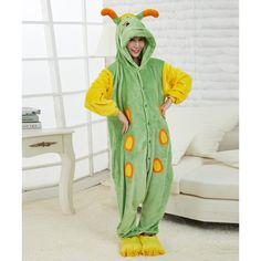 Women & Men Caterpillar The Journey Of Flower Kigurumi Onesies Pajamas Costumes Hoodies