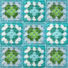 This really is the last #grannysquareday picture today Could not resist the water colors with green #grannysquares #vierkantjeshaken #haken #crochet #gehaaktevierkanten #craftastherapy #crochetaddict #crochetsquares #crochetconcupiscence