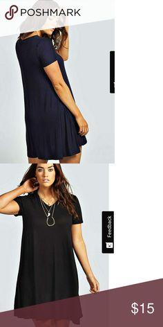 93035752fc Size 16 Boohoo Plus Navy Blue Clea Swing dress viscose elastane. Color Sold  out on boohoo Boohoo Plus Dresses Mini