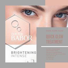 QUICK GLOW TREATMENT Schnelle Behandlung für jede anspruchsvolle Haut mit Pigmentstörungen für ein leuchtender, strahlender Teint. In Kombination mit begleitender Pflege mit der BRIGHTENING INTENSE Pflegelinie gibt es über 8 Wochen ein hellerer,  ausgeglichener Hautfarbton.  45 Minuten CHF 185.00 inklusive Try Me Kit im Wet von CHF 45.00  #hautpflegeexperten #baborlove #bern #bellezzabern #babor #baborista #schönehaut  #gesundehaut #hautpflege #hautpflegeroutine #happyskin  #skinlove… Bern, Kit, Movie Posters, Healthy Skin, Spot Lights, Skincare Routine, Film Poster, Billboard, Film Posters
