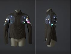 Fashioning Technology - Bikecyclist Jacket - Lights for Safety without sacrificing comfort or style