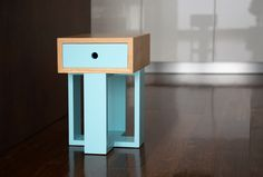 Banco Gaveteiro Box Mais #farpa #wood #pastelcolors #vintage #farpapt #boxmais #blue #home