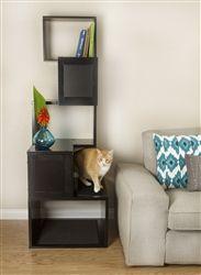 The Black Sebastian Modern Cat Tree by  Designer Pet Products
