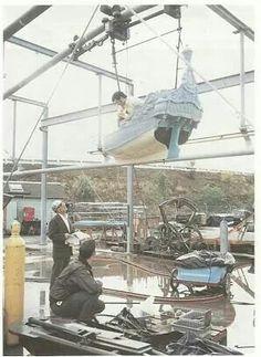 Constructing Peter Pan in 1955.