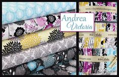 Can't wait to see a quilt in this fabric. Andrea Victoria by My Mind's Eye for Riley Blake