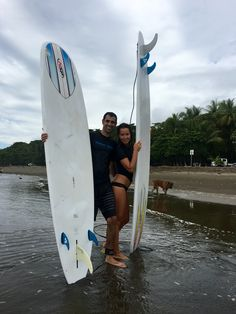 Learn to surf as a couple.  #surfcouples #learntosurf #dominical #getfit