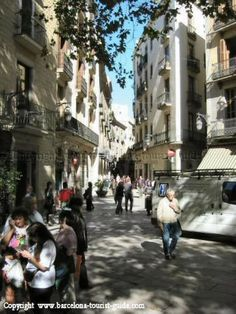 The Old Town (Barri Gotic) area of Barcelona - winding streets of cafes, galleries, boutiques...