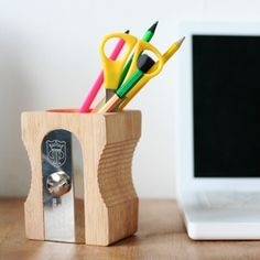 pencil sharpener pen holder
