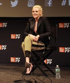 Kristen Stewart wore a #Dsquared2 Resort 2017 jacket + vest with #31PhillipLim Fall 2016 pants to the #PersonalShopper Q&A during #NYFF54. The Fashion Court (@TheFashionCourt) | Twitter