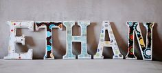 Wood Letters and Scrapbook Paper | simple