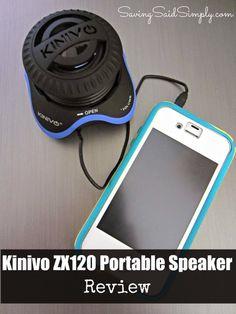 Saving Said Simply: Kinivo ZX120 Portable Speaker Review