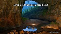 Camp inside hang son doong cave