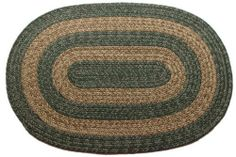 Ohio - Country Sage & Brown - Oval Braided Rug (2' x 4') by Stroud Braided Rugs. $55.20. American Made. Reversible and fade resistant – the color goes all the way through the rug. Machine washable (lay flat to dry). Soft, yet durable yarn (synthetic - modified polypropelene). Waterproof: Indoor/Outdoor Rug. This oval braided rug is handmade in America (colors: brown, green). It is usable indoors or outdoors, machine washable, reversible, and stain/fade resistant. C...