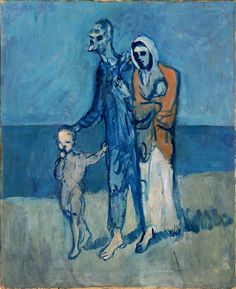 "Pablo Picasso, ""Figures by the Sea"", 1903 Pablo Picasso : More At FOSTERGINGER At Pinterest ♍️Pablo Picasso,"