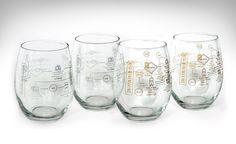 Winemaking Process Glass Set