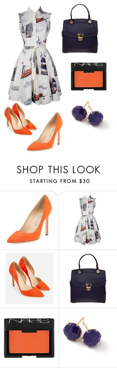 """sea sail"" by classykate on Polyvore featuring Manolo Blahnik, JustFab, NARS Cosmetics and Ippolita"