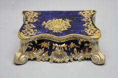 Gilt 19th C. Louis XV Porcelain Base