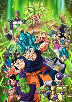 "Check out these Amazing Posters from the movie ""Dragon Ball Super: Brolyâ . - Check out these Incredible Fans from the movie ""Dragon Ball Super: Broly"" made by Fans ! Dragon Ball Gt, Dragon Ball Image, Foto Poster, Poster S, Dbz, Broly Movie, Manga Dragon, Girls Anime, Anime Merchandise"