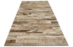 Stripes Cowhide Patchwork Rug | Viesso
