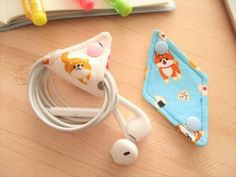 Cord Holder, Kawaii Crafts, Sewing Projects For Beginners, Cotton Bag, Diy And Crafts, Quilts, Purses, Handmade, Bags