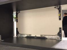 Great ALNO sliding door system seen from back