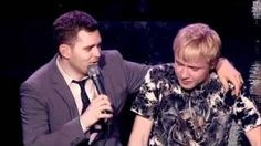 Michael Buble duets with 15 year old boy --- holy shit balls mom Sam can sing!!!