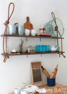 Love this! The most simple diy shelving tutorial I have seen.