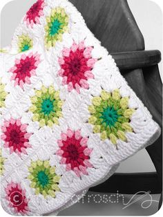Pretty colors for Granny Square Blanket!!!