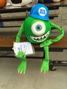 Monsters Inc. Mike Wazowski pumpkin