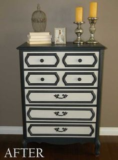 Before & After: Nicole Dresses Up a Drab Dresser