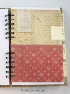 Make a paper pocket http://craftyjournal.com/folded-paper-pocket-for-a-book/