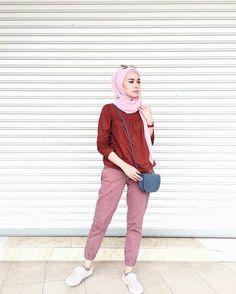 Street Hijab Fashion, Muslim Fashion, Modest Fashion, Fashion Outfits, Womens Fashion, Casual Hijab Outfit, Hijab Chic, Casual Outfits, Hijab Collection