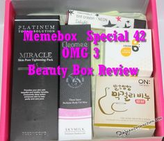 Memebox Special 42 OMG 3 review, unboxing, December codes via @mbeautyjunction #bbloggers #beautybox #skincare