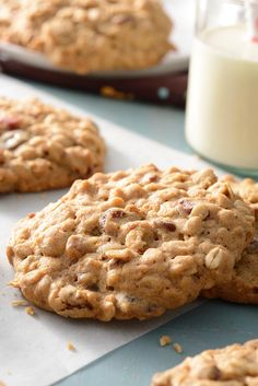 Tender Cranberry-Raisin Oatmeal Cookies Recipe.
