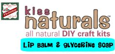 Kiss Naturals All Natural DIY Lip Balm & Glycerine Soap Kits!  #giftguide