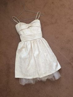 XS cream dress from Laundry Room in perfect condition Dublin City, Laundry Room, White Dress, Ads, Colour, Cream, Formal Dresses, Beautiful, Fashion