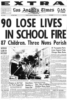 our lady of the angels school fire | ... in the 1950s in chicago remembers the our lady of the angels fire and