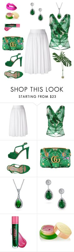 Palm Leaf by marlaj-50 on Polyvore featuring Dolce&Gabbana, Givenchy, The Seller, Gucci, Bling Jewelry, Tata Harper and Lipstick Queen