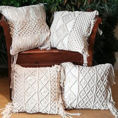Excited to share this item from my shop: Cotton Linen Macrame Hand-woven Cotton Thread Pillow Covers Geometry Bohemia Cushion Covers Home Decor Knitted Cushion Covers, Knitted Cushions, Geometric Cushions, Decorative Cushions, Knit Pillow, Cotton Pillow, Pillowcase Pattern, Tapestry Wall Hanging, Pillow Covers