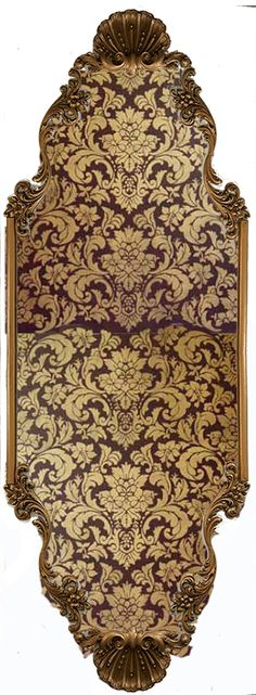 Victoria Wall Panel with Handpainted Damask by Beaux-Arts Classic Products